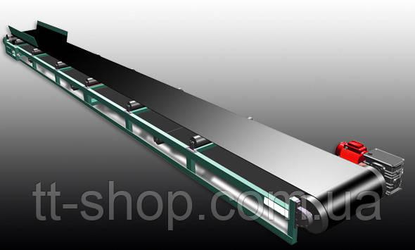 Ленточный конвейер длинной 4 м, ширина ленты 800 мм