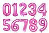 Розовые фольгированные цифры