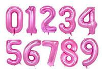 Розовые фольгированные цифры цифра 5