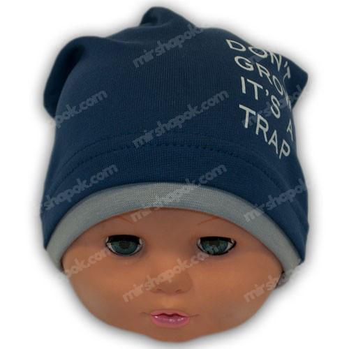 Весенняя шапка для мальчика