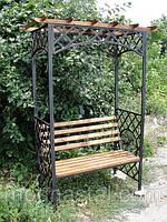 Садовая скамейка с кованным декором