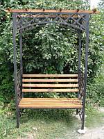 Садовая лавочка с аркой