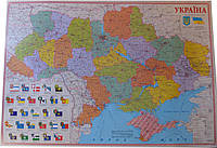 Карта України політична А0 папір