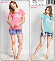Комплект женский из футболки и шорт VIENETTA