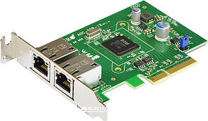 Контролер Dual Port Gigabit Ethernet Server Adapter 2 ports 10/100/1000 Base-T, PCI-E x4 (Gen 2), Intel i350