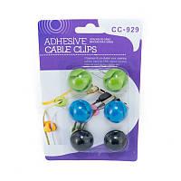 Органайзер для кабеля Cable Clips CC-929 (Black / Blue / Green)