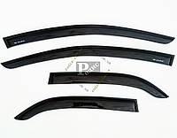 Дефлекторы окон - Ветровики CHEVROLET Aveo I,II Sd (Т200) 2003-2008 Шевроле Авео 1-2 седан (на скотче)