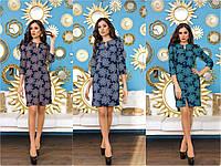 Женское платье с принтом цветов, фото 1