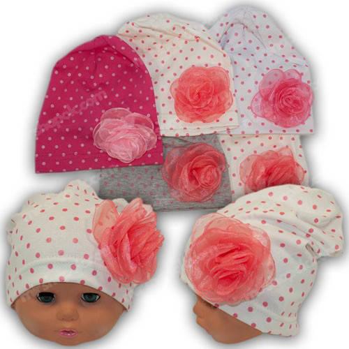 Детские шапочки трикотаж для девочки, р. 48-50