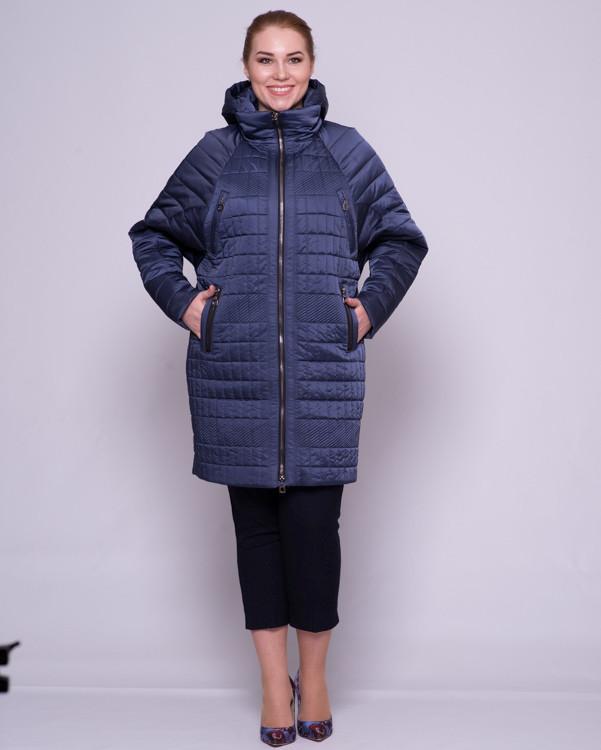 Женская демисезонная куртка, фасон - летучая мышь