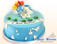 """Детский торт """"Первый День Рождения"""" 3 кг"""