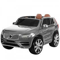 Дитячий Volvo 3278 на радіокеруанні, 2 мотори 35W, 12V/10AH, колеса EVA, шкірне сидіння, колір графіт.