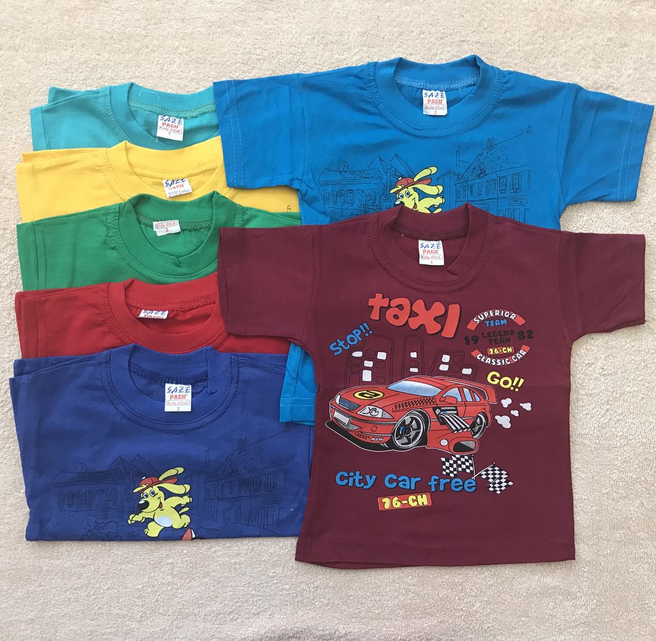 Турецкие детские футболки для мальчиков 1/2/3 года