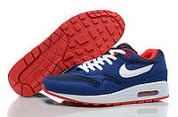 Кроссовки мужские Nike Air Max 87 Blue / White / Red outsole