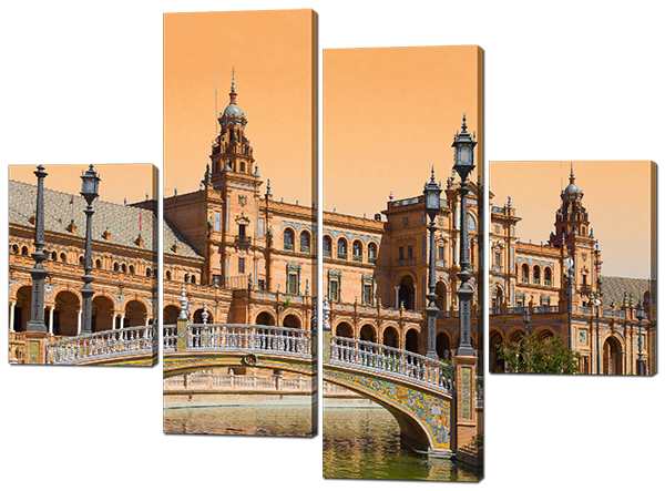 Модульная картина мост в городе Валенсия. Испания