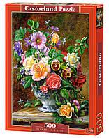 """Пазлы """"Цветы в вазе"""" Castorland 500 элементов"""