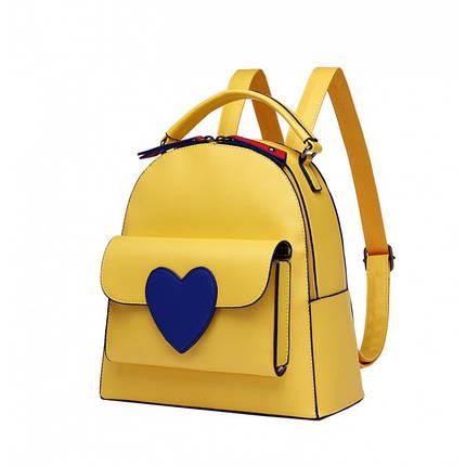 Рюкзак женский Bobby Love жёлтый eps-8166, фото 2