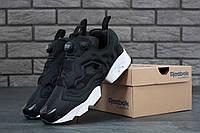 Мужские кроссовки Reebok (черные), ТОП-реплика, фото 1