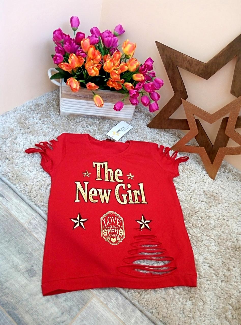 Футболка Little star  для девочек Оптом и в розницу Турция 6-16 лет