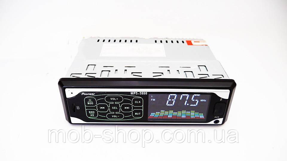 Автомагнитола пионер Pioneer 3886 ISO MP3 Player, FM, USB, SD, AUX