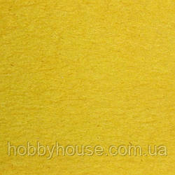 Фетр 1 мм, А4 (20х30 см) желтый