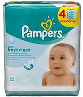 Влажные салфетки Pampers Baby Fresh Clean  256шт.