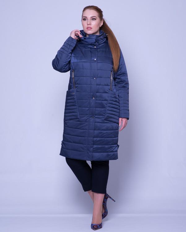 Стеганое пальто из атласа