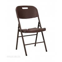 Складаний стілець пластиковий коричневий PLСBY-5330, фото 1