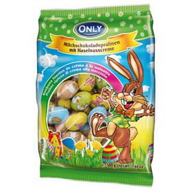 Шоколадные молочные яйца ONLY 500g