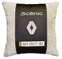 Подушка автомобильная с вышивкой марки авто рено Renault