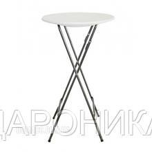 Стол барный пластиковый складной белый PLTBY-6102