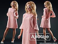 Платье трапеция в стиле 60-х с рукавчиком 3/4.