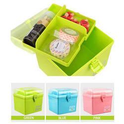 Шкатулка Storage BOX для рукоделия и хранения салатовый