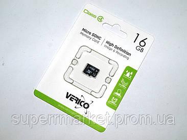 Карта памяти 16ГБ microSDHC VERICO 16Gb class 4  флешка microSDTF