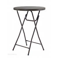 Стол барный пластиковый складной коричневый PLTR-8103, фото 1