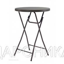 Стол барный пластиковый складной коричневый PLTR-8103