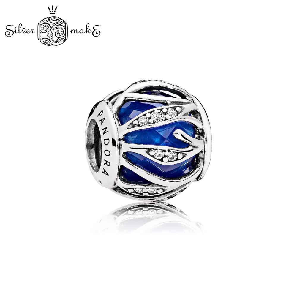 Пандора Шарм из Серебра Природное сияние, синий кристал