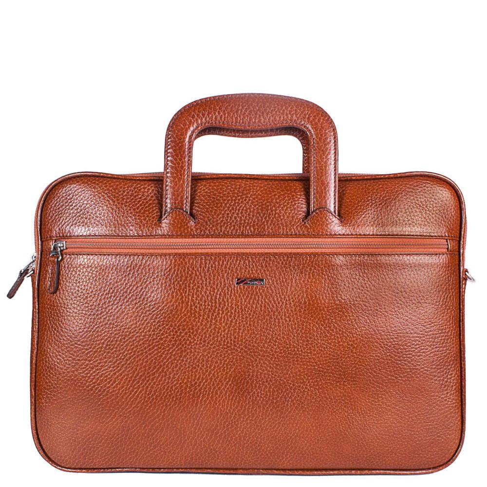 Кожаная сумка для документов и ноутбука Desisan