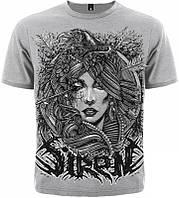 Футболка Siren (crow(меланж)), Размер M
