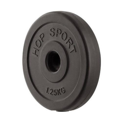 Блин диск для штанги или гантель 1.25 кг (30мм в пластике)