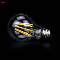 Светодиодная прозрачная лампочка 8Вт Е27 LM718 A55 6500K, фото 1