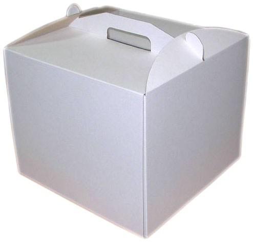 Картонная коробка для торта белая 35*35*35 см
