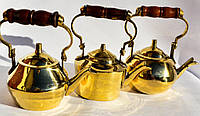 Восхитительный набор чайничков,3 шт. Чайник,заварник! Латунь. Germany!, фото 1