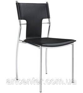 Стул офисный, стул для дома, стул для посетителей, стул обеденный(БЕРЛИН Х черный)