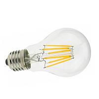 Светодиодная прозрачная лампочка 8Вт Е27 А60 2800К Biom FL-31, фото 1