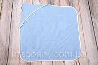 Вязанный конверт- плед с кисточкой, голубой