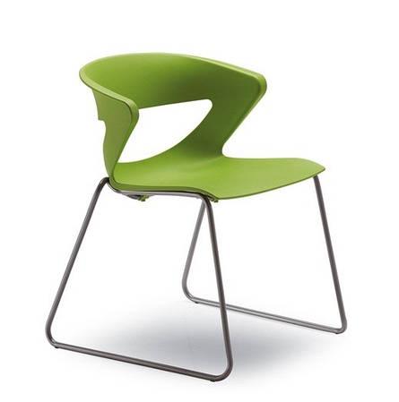 Кресло офисное Kicca (пластик оранжевый / красный / белый)