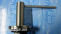 Дозатор моющего средства BLUE WATER круглый  inox, фото 1