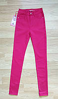 Женские джинсы американка малиновые (размеры 25, 26, 27, 30)