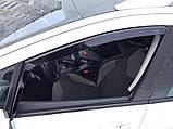 Дефлектори вікон вставні Audi A4 (B6) 2001-2005 4D Sedan, фото 7